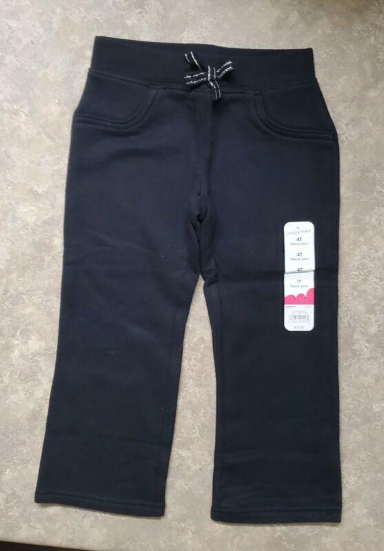 Jumping Beans Fleece Bootcut Pant - Black - Toddler Girls 4T