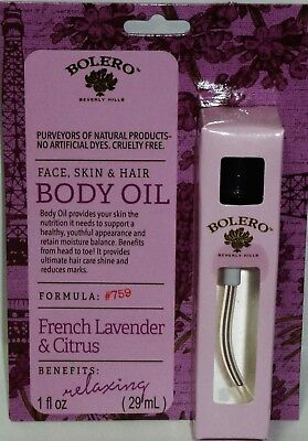 BOLERO Beverly Hills Relaxing Body Oil FRENCH LAVENDER CITRUS 1.0 fl oz 29ml