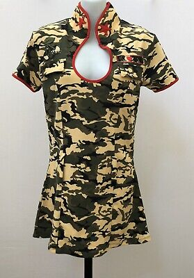 Army Camo Dress Halloween Costume Dress Up S/M Forplay Stars Cherry