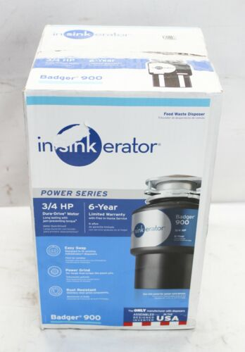 InSinkErator Model Badger 900 3/4 HP Continuous Feed Garbage Disposal
