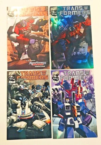 TRANSFORMERS Generation 1 SET - 2002 PREVIEW + #1 HOLOFOIL + 2A AND 2B DW Comics