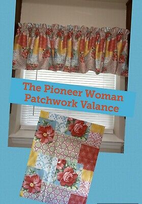 Pioneer Woman Country Patchwork Valance Curtain Kitchen Window
