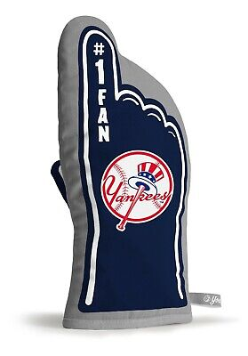 NEW YORK YANKEES  #1 FAN OVEN MITT GAMEDAY GRILL TAILGATE MLB GLOVE