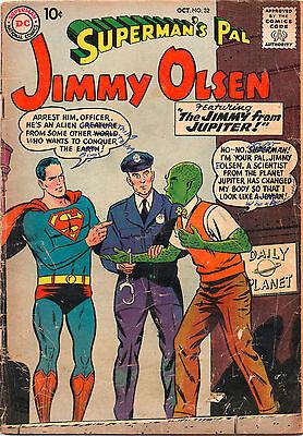Supermans Pal Jimmy Olsen  32   Jimmy From Jupiter    Grade 2 0  1958