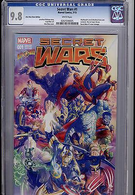 Secret Wars   1  Alex Ross Store Exclusive Variant Cgc 9 8