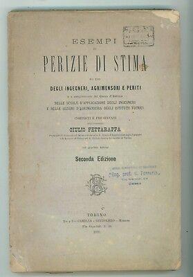 FETTARAPPA GIULIO ESEMPI DI PERIZIE DI STIMA CAMILLA BERTOLERO 1888 AGRICOLTURA