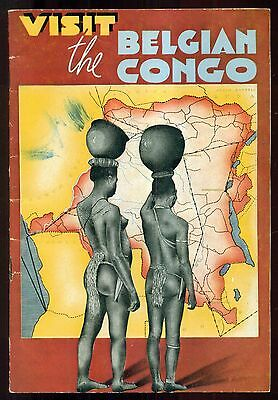 "1939 National Office of Belgium Tourism ""Visit the Belgian Congo"" Booklet"