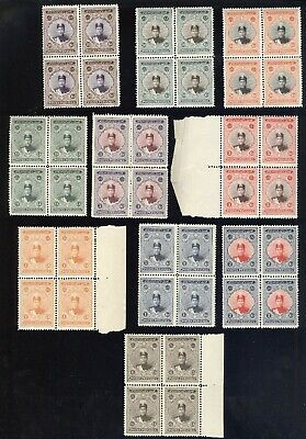 MIDDLE EAST(PERS-), OLD Mint NH Blocks of Stamps, CV $764.00
