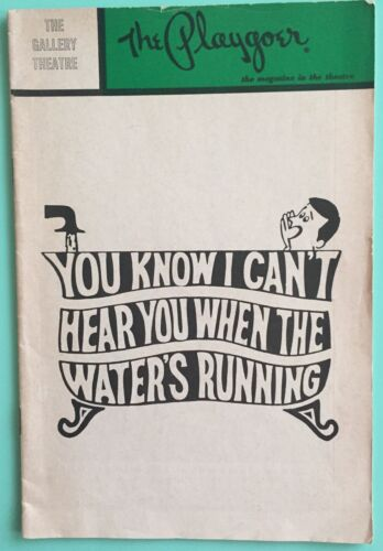 Ted Knight Playbill You Know I can't Hear you When the Water's Running 1969 CA