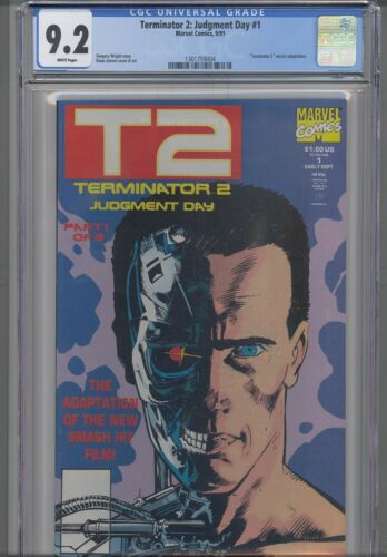 Terminator 2: Judgment Day #1 CGC 9.2 1991 Marvel   Movie Adaptation: NEW  FRAME