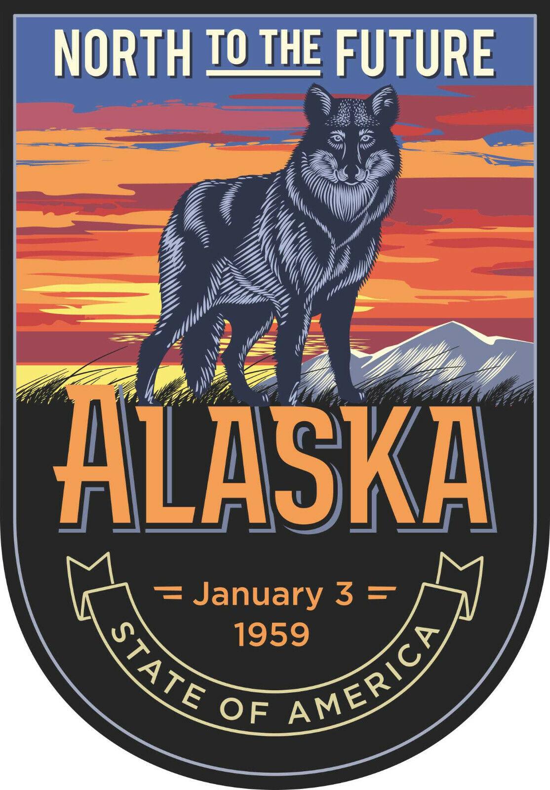 20cm Auto Aufkleber Alaska Bundesstaaten Wappen Logo Sticker Caravan LKW Truck