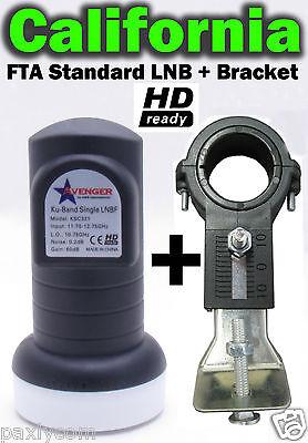 Single Standard Linear Ku Band LNBF 0.2dB FTA Satellite Dish + 40mm LNB Bracket