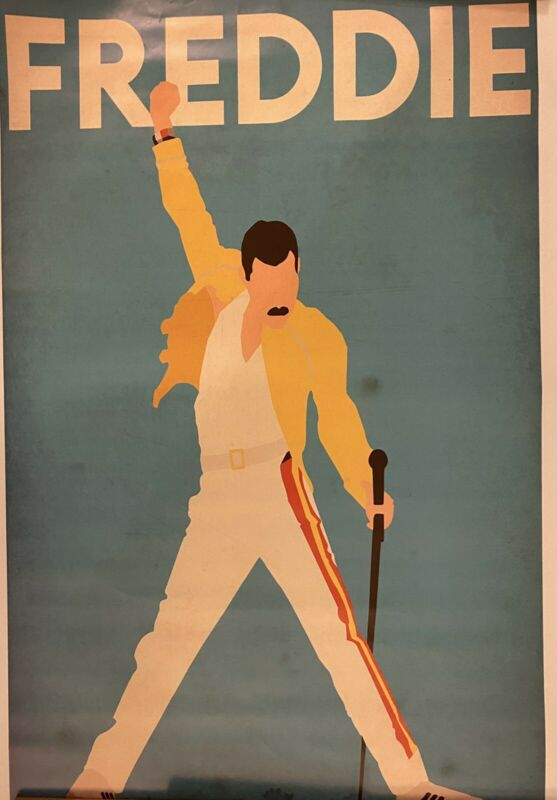 Freddy mercury queen poster 24x36 free shipping!!!