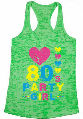 Burnout Racerback 80s Workout Tank Top 80s Girl Outfit Neon 80s Disco 80s Cloth (80s Clothes Girls)