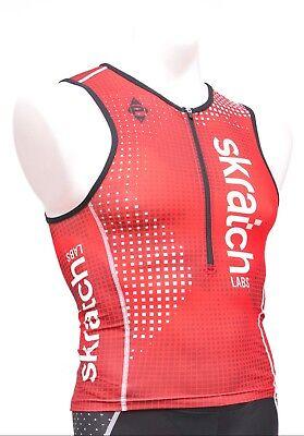 3f4d57dbb Panache skratch LABS Men s Sleeveless Triathlon Top Singlet XL Red Pockets  Tri
