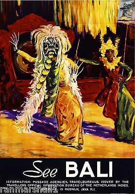 See Bali Indonesia #3 Rangda Queen of Witches Travel Advertisement Art Poster