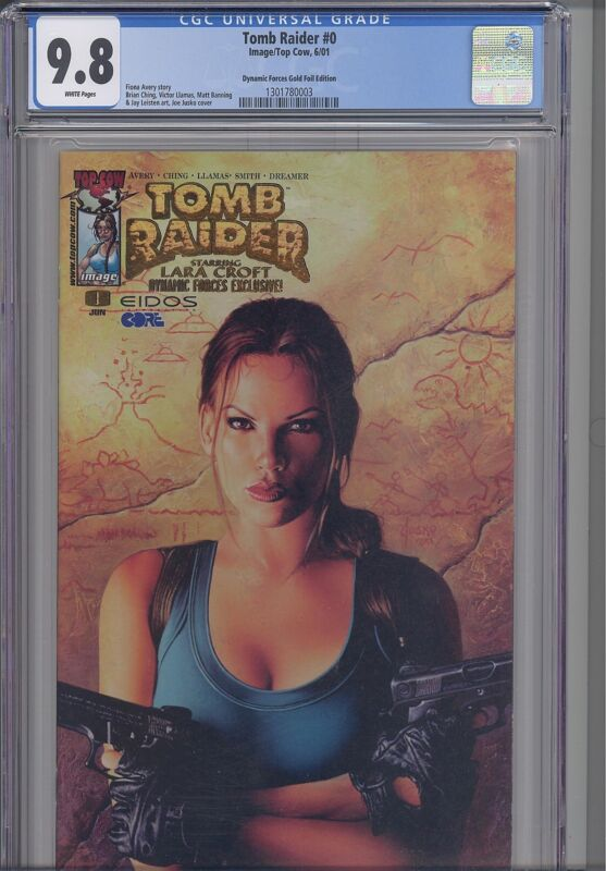 Tomb Raider #0  CGC 9.8 1999 Top Cow Laura Croft Dynamic Forces Gold Foil Comic