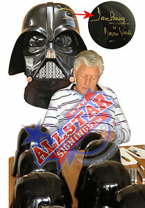 OFFICIAL STAR WARS SIGNED DARTH VADER DAVE PROWSE HELMET WITH PROOF & COA