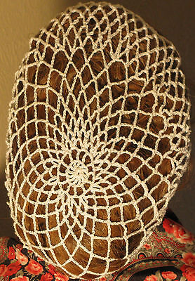 CIVIL WAR, VICTORIAN, Hand  Crocheted HAIR NET (SNOOD)  100% COTTON Many Colors