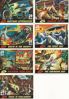 MARS ATTACKS! ARCHIVES 1994 FIRST DAY 7 CARD LOT #4 + 2 ORIGINAL WRAPPERS!