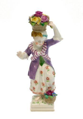 KPM Germany Hand Painted Porcelain Figurine, Gilt w. Flowers, circa 1900
