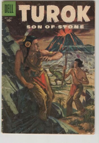 TUROK, SON OF STONE #5 1956 DELL GD/VG CONDITION