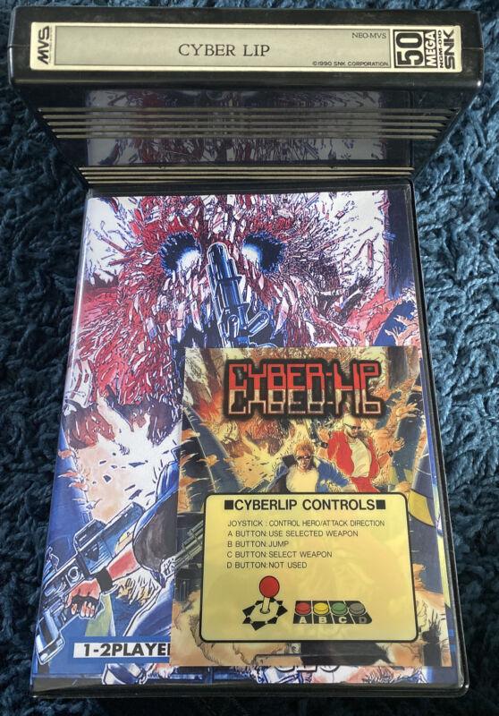 Cyber Lip Neo Geo MVS arcade board w/ marquee & shockbox snk