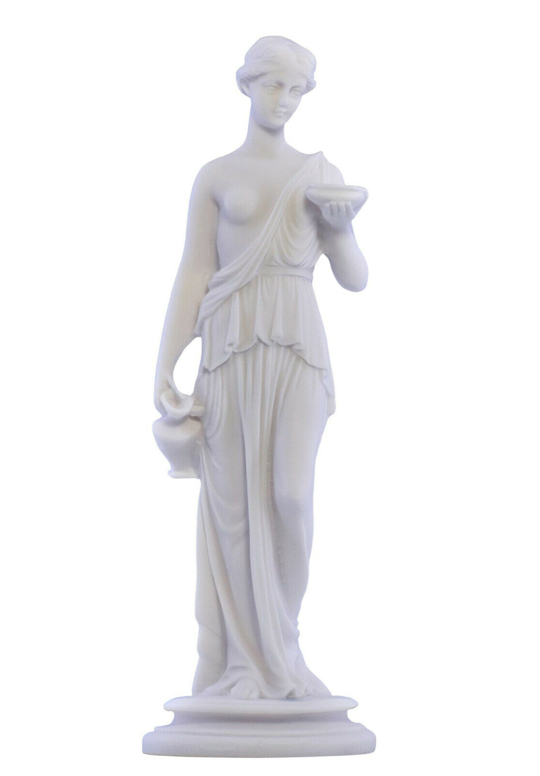 Goddess of Youth Hebe Juventus serving Nectar Statue Figure Sculpture 9.4 inches