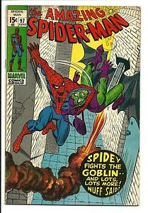 AMAZING SPIDER-MAN # 97 (GREEN GOBLIN, DRUG ISSUE, JUNE 1971), FN+