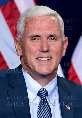 5X7 Photo Mike Pence Portrait Vice President Republican Indiana In Governor Rep