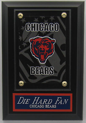 Chicago Bears Decor (DIE HARD FAN CHICAGO DA BEARS LOGO CARD PLAQUE FOR YOUR MAN CAVE WALL)