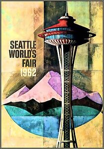 Seattle Washington World's Fair1962 Vintage Poster Print Art Space Needle Travel