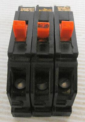 3 Zinsco Type T Circuit Breaker 1p 20a 120vac