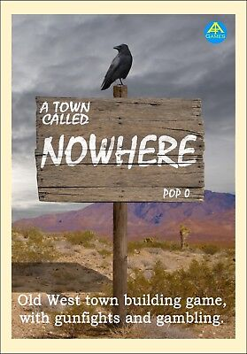A Town Called Nowhere. Old West town building board game. Wild West. Western., used for sale  Bolton