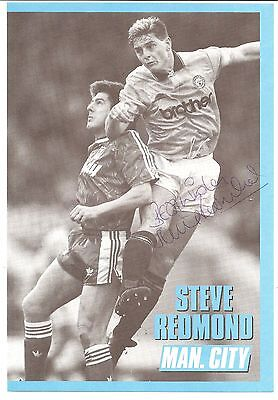 Steve Redmond Manchester City Man City signed autographed football book picture.