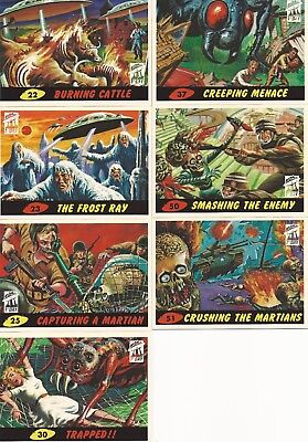 MARS ATTACKS! ARCHIVES 1994 FIRST DAY 7 CARD LOT #5 + 2 ORIGINAL WRAPPERS!