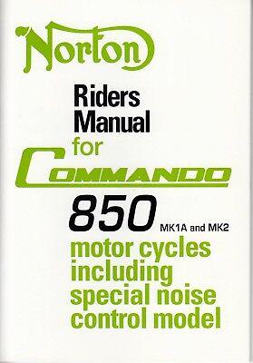 1973-74 Norton Commando 850 Mark IA & II, OEM, Owners Riders Manual, Brown Wrap