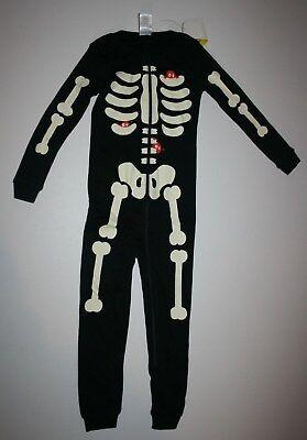 Neu Gymboree Skelett 1 Stück Halloween Gymmies Pyjama Größe 18-24M 2T 3T