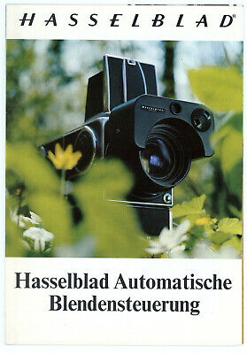Prospekt HASSELBLAD AUTOMATISCHE BLENDENSTEUERUNG Broschüre von 1975 (Y2170