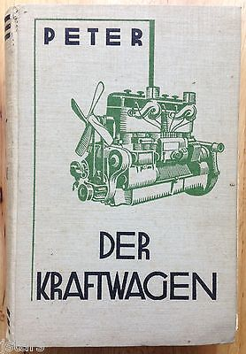 1937 DER KRAFTWAGEN GERMAN AUTO TRUCK REPAIR MANUAL by M. PETER, ELECTRIC CARS