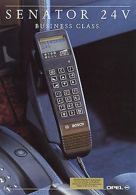 Prospekt Opel Senator Business Class 3/92 Autoprospekt 1992 Broschüre Auto PKWs