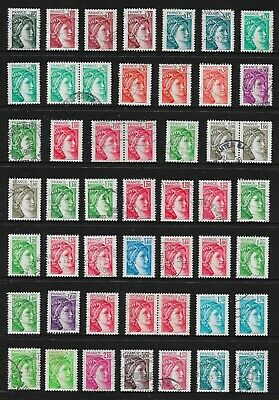 FRANCE 1977+ Sabine, incl joined pairs, used