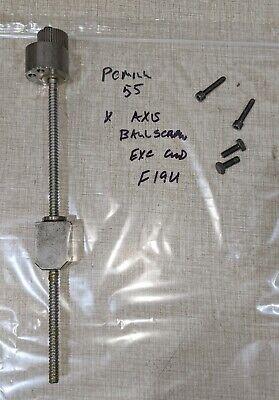 Emco Pcmill 55 Cnc Mill X Axis Ballscrew Assy W Timing Gear F19u