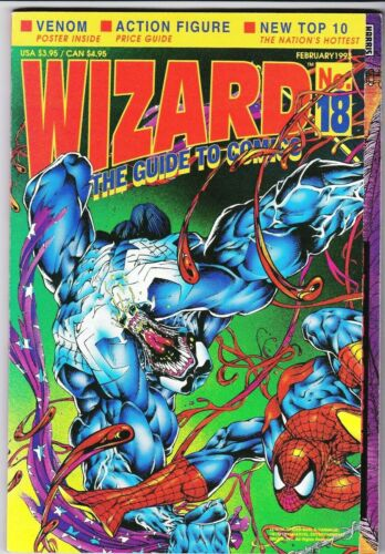 WIZARD MAGAZINE # 18 1993 SPIDERMAN VENOM CARNAGE POSTER COVER ELFQUEST