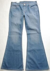 New! OLD NAVY sz 10 High Waist Hi-Rise Retro Flare Stretch Vtg Blue Wash Jeans