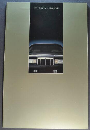 1991 Lincoln Mark VII Catalog Brochure LSC Bill Blass Excellent Original 91