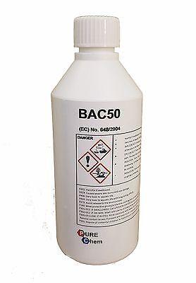 BAC50 Benzalkonium Cloruro Alguicida Bactericida y Fungicide. 250ml comprar usado  Enviando para Brazil