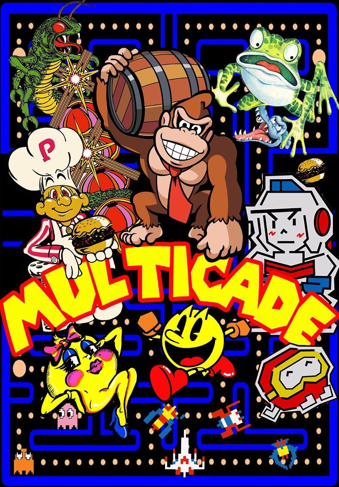 Photo 2 PACK NEW MINI DK Arcade Classics Side Art  Multicade  8