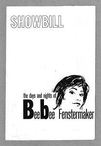 Robert-Duvall-BEEBEE-FENSTERMAKER-Virgilia-Chew-1962-Off-Broadway-Playbill
