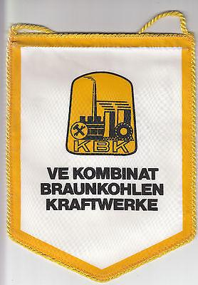 DDR GDR Wimpel VE Kombinat Braunkohlenkraftwerke